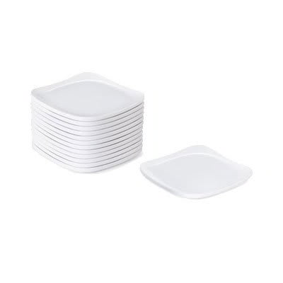 "GET CS-6115-W 5"" Square Bread Plate, Melamine, White"