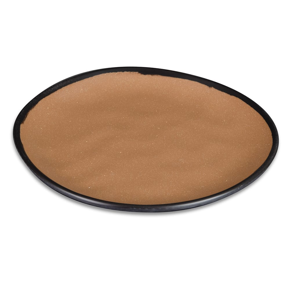 "GET CS-90-TP 9"" Pottery Market™ Dinner Plate - Melamine, Speckled Taupe"