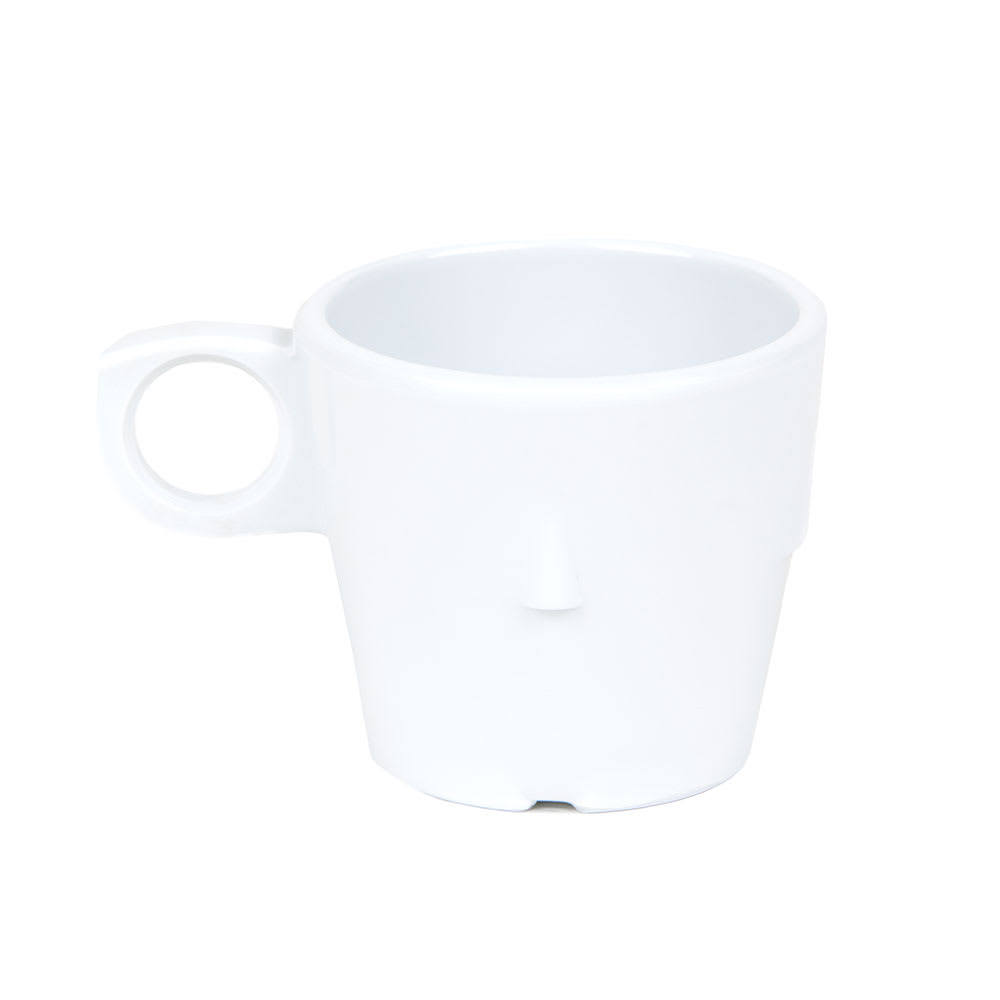 GET DC-101-W 7.5 oz Coffee Cup, Melamine, White