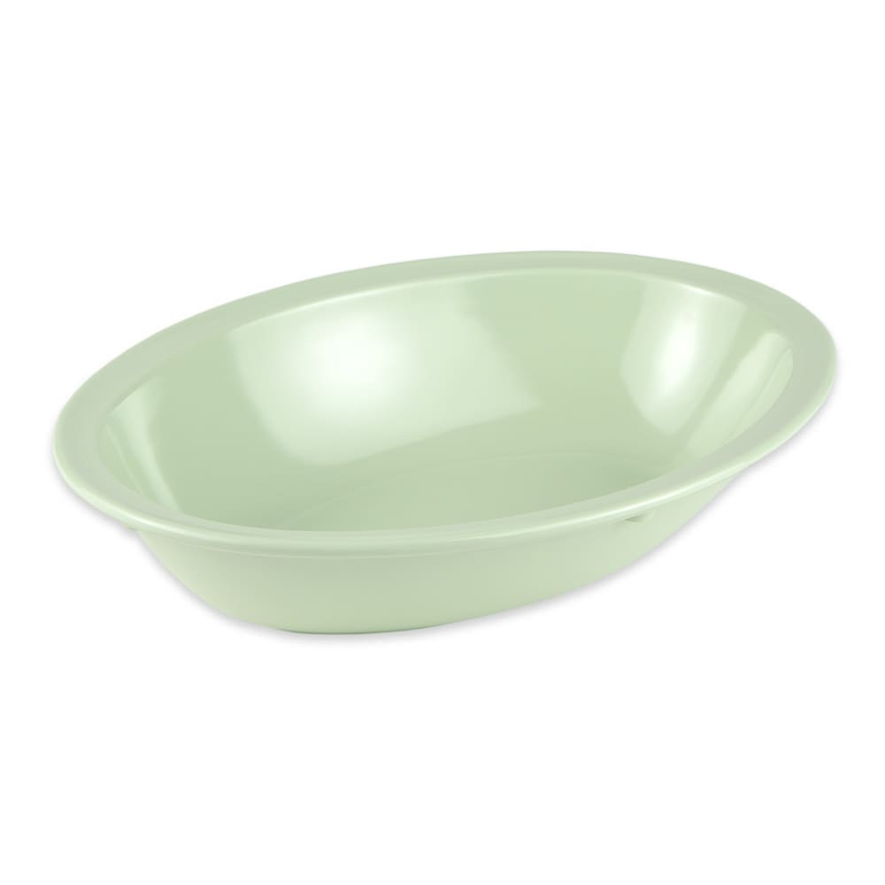 "GET DN-332-G Oval Serving Bowl w/ 32 oz Capacity, 10"" x 7.25"", Melamine, Green"