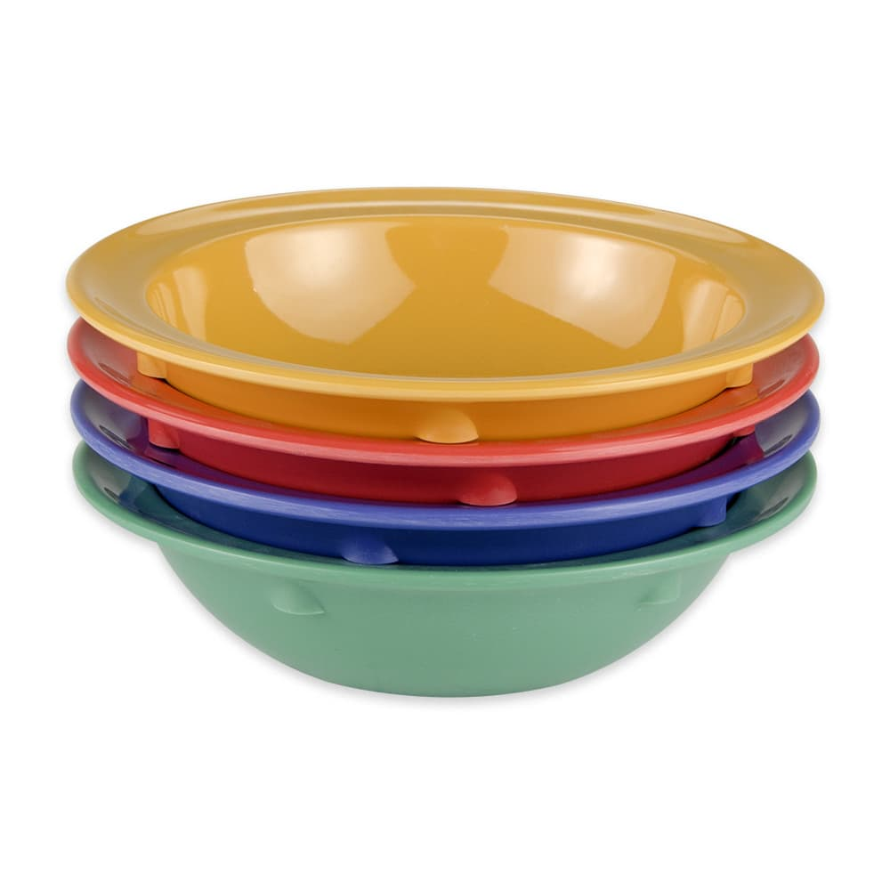 "GET DN-904-MIX (4) 4.75"" Round Fruit Bowl w/ 5 oz Capacity, Melamine, Multi-Colored"