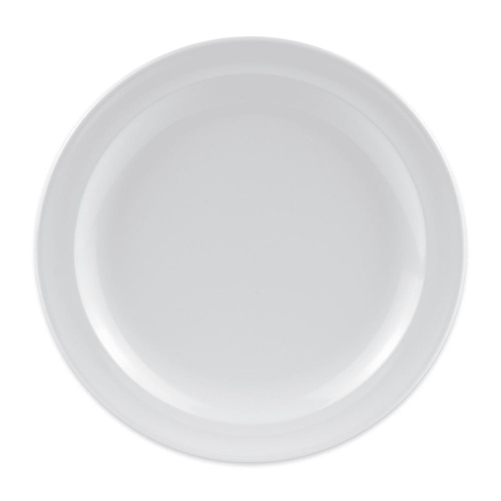 """GET DP-506-W 6.5"""" Round Salad Plate, Melamine, White"""