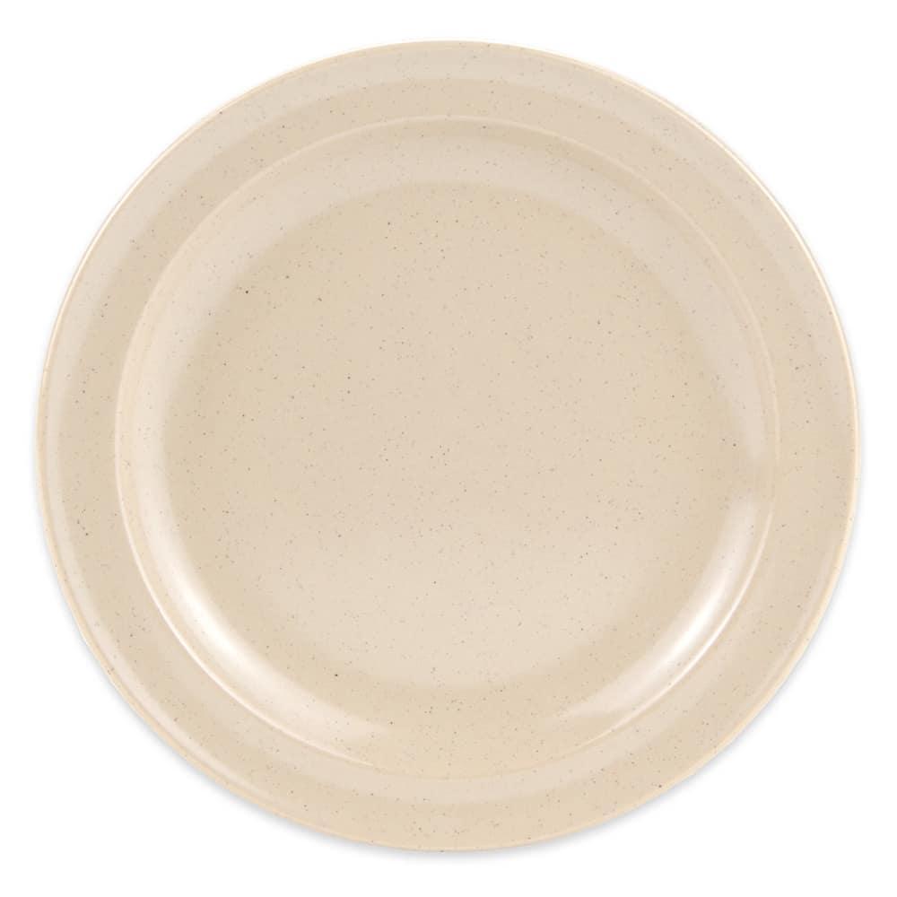 """GET DP-507-S 7.25"""" Round Dessert Plate, Melamine, Sandstone"""