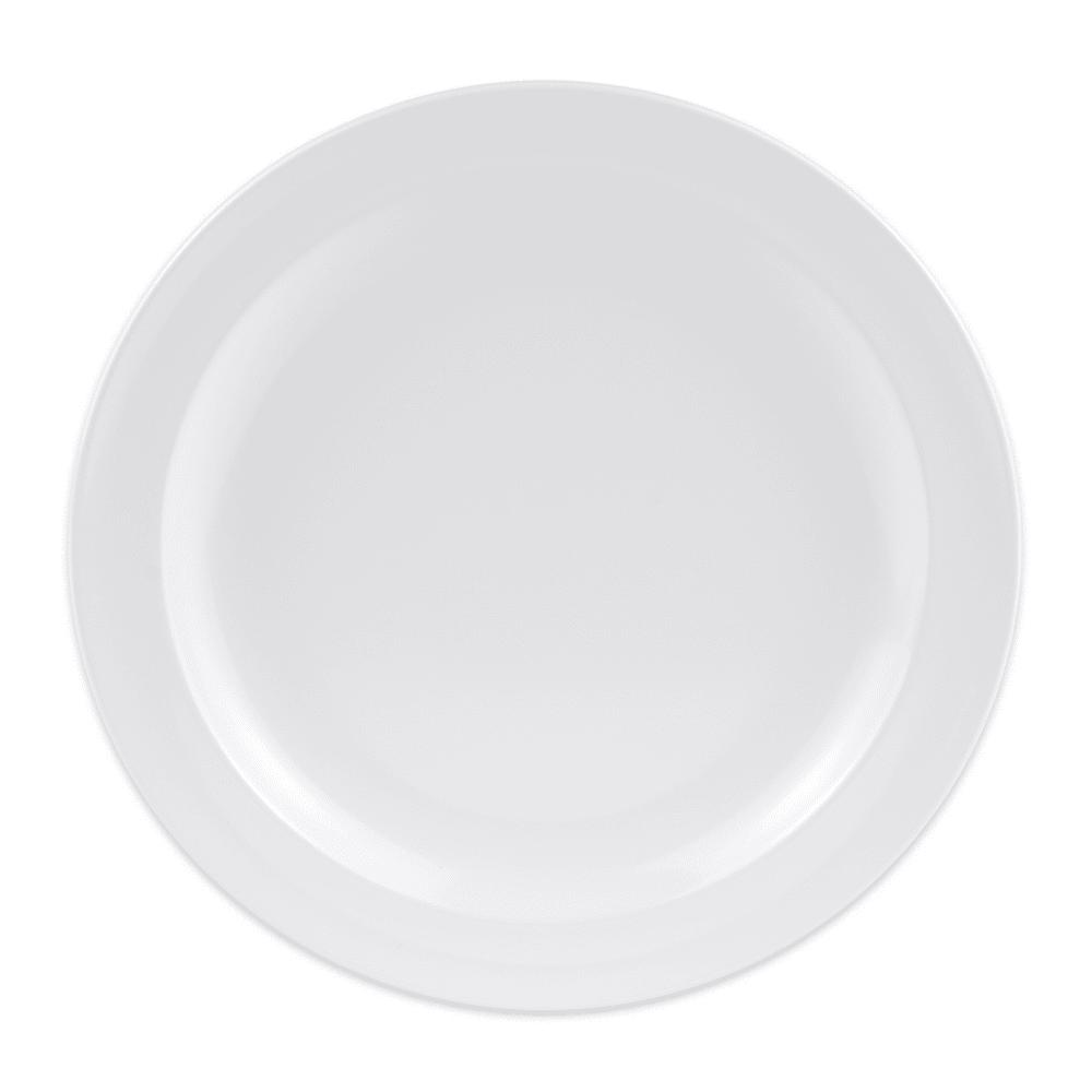 """GET DP-507-W 7.25"""" Round Dessert Plate, Melamine, White"""