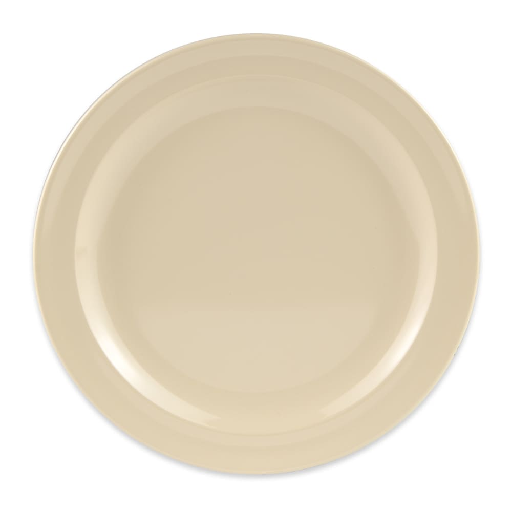 "GET DP-508-T 8"" Round Lunch Plate, Melamine, Tan"