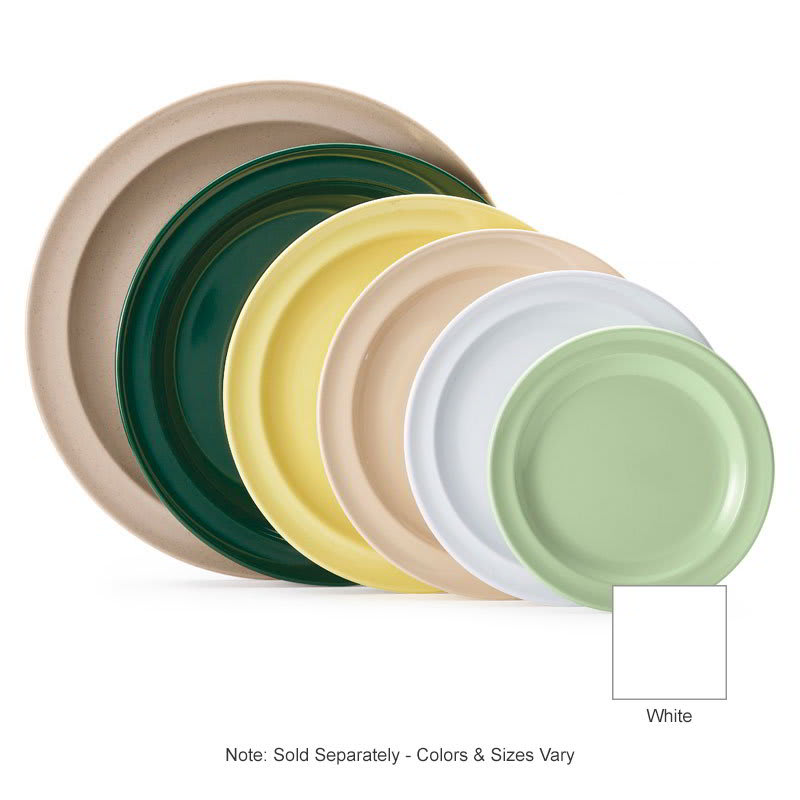 "GET DP-508-W 8"" Round Lunch Plate, Melamine, White"