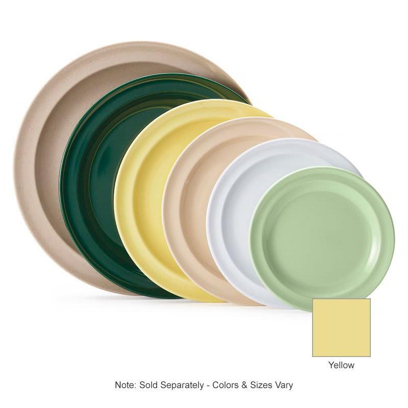 "GET DP-508-Y 8"" Round Lunch Plate, Melamine, Yellow"