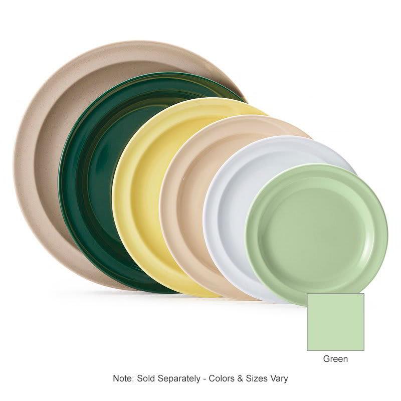 """GET DP-509-G 9"""" Round Dinner Plate, Melamine, Green"""