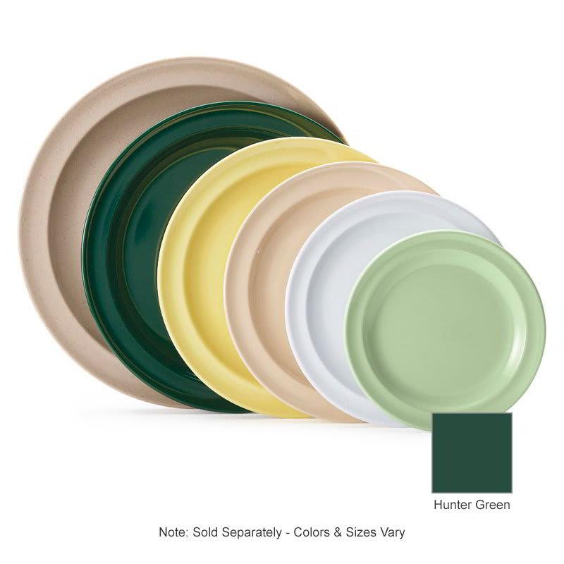"GET DP-509-HG 9"" Round Dinner Plate, Melamine, Green"