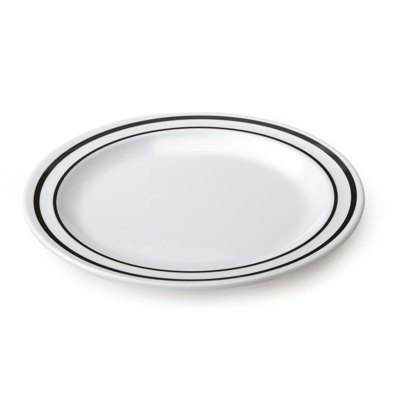 "GET DP-906-AT 6.5"" Round Salad Plate, Melamine, White"
