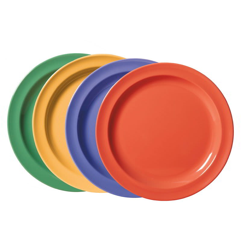 "GET DP-906-MIX (4) 6.5"" Round Salad Plate, Melamine, Multi-Colored"