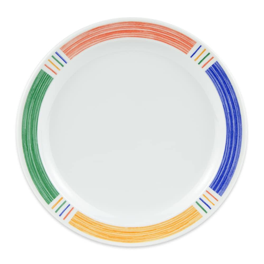 "GET DP-909-BA 9"" Round Dinner Plate, Melamine, White"
