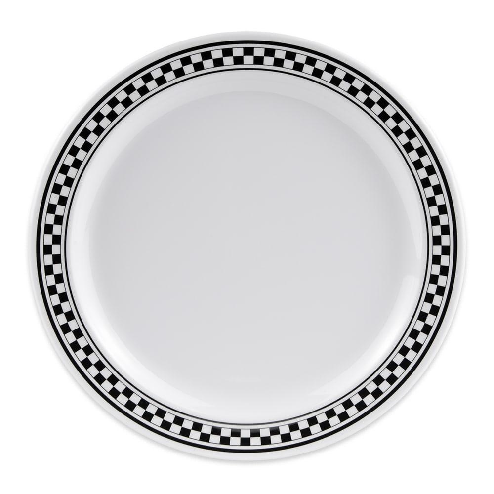 """GET DP-909-X 9"""" Round Dinner Plate, Melamine, White"""