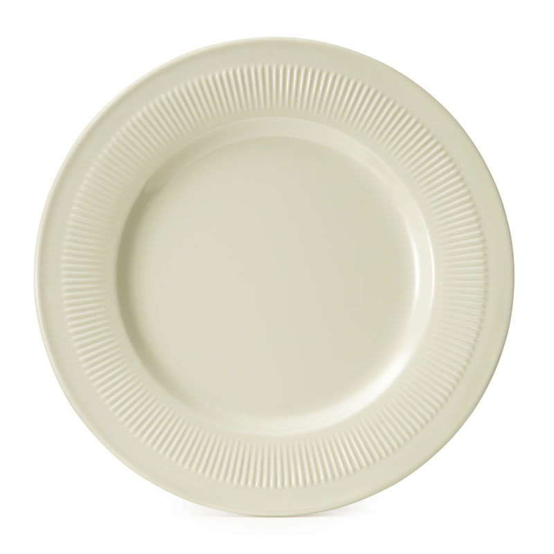 "GET E-9-P 9.25"" Round Dinner Plate, Melamine, Ivory"