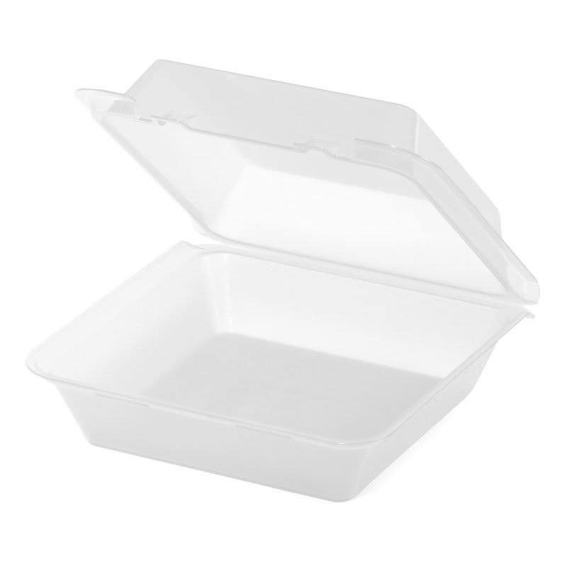 "GET EC-02-1-CL To Go Food Container w/ (3) Compartments, 9"" x 9"" x 3.5"", Polypropylene, Clear"