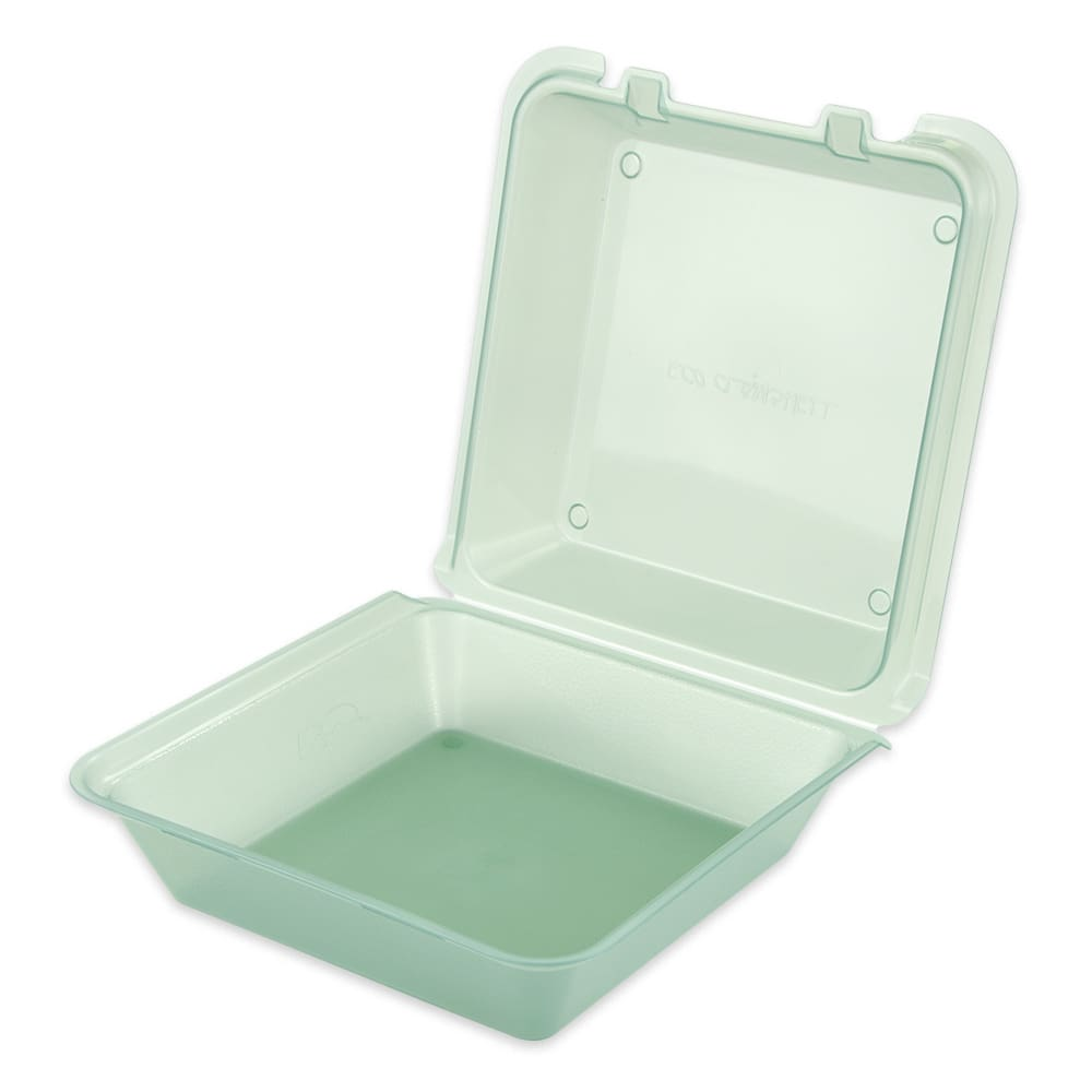 "GET EC-02-1-JA To Go Food Container w/ (3) Compartments, 9"" x 9"" x 3.5"", Polypropylene, Jade"