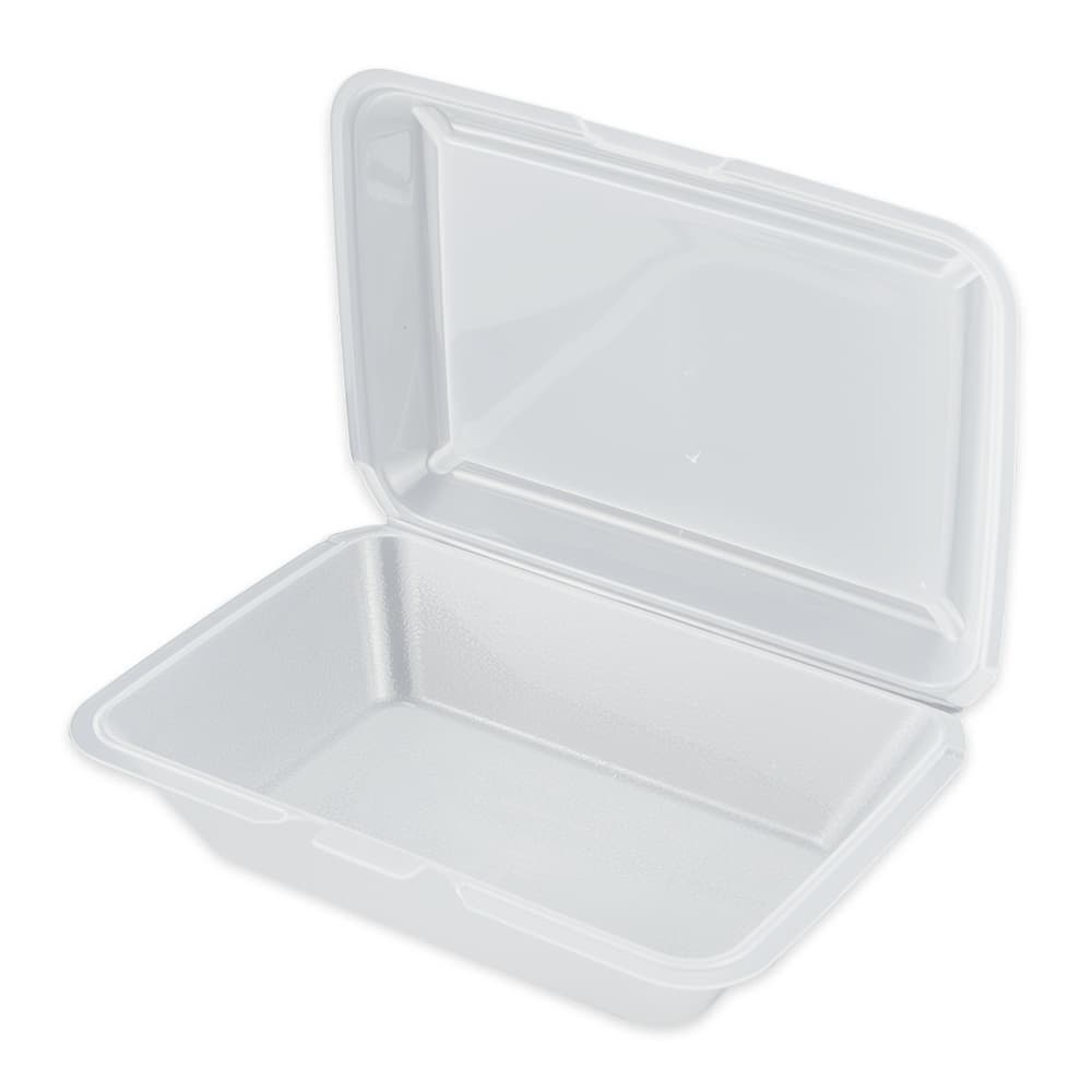 "GET EC-04-CL To Go Food Container w/ (1) Compartment, 9"" x 9"" x 3.5"", Polypropylene, Clear"