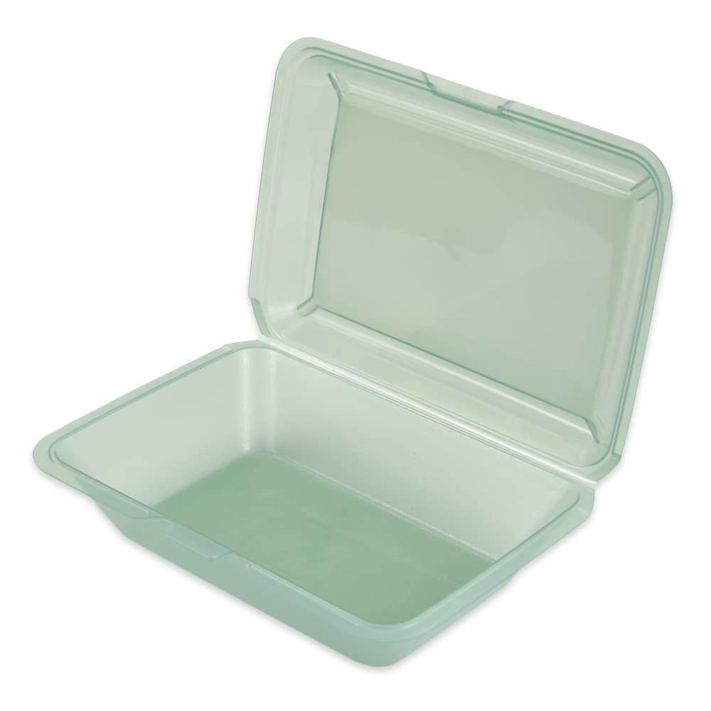 "GET EC-04-JA To Go Food Container, 9"" x 9"" x 3.5"", Polypropylene, Jade"