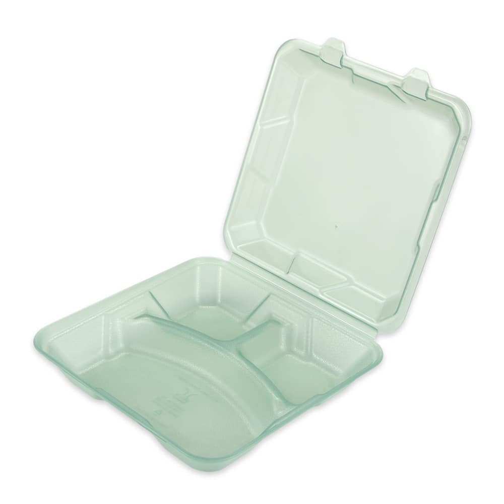 "GET EC-06-1-JA To Go Food Container, 9"" x 9"" x 3.5"", Polypropylene, Jade"