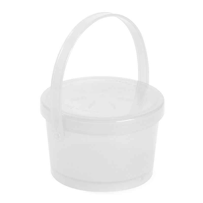 "GET EC-07-1-CL To Go Food Container, 9"" x 9"" x 3.5"", Polypropylene, Clear"