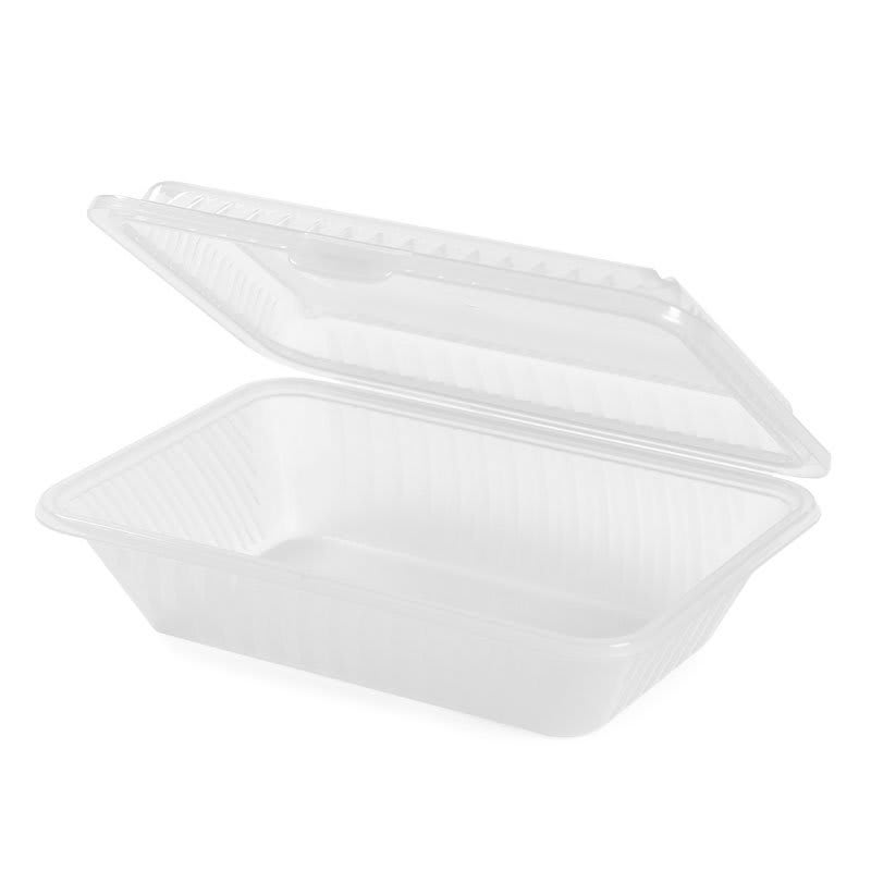 "GET EC-11-1-CL Rectangular To Go Food Container, 9"" x 6.5"", Polypropylene, Clear"