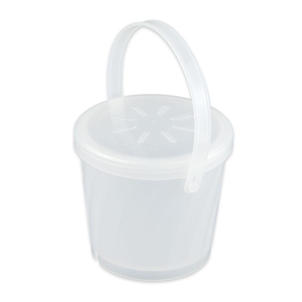 "GET EC-13-1-CL 4.25"" Round To Go Food Container w/ 16 oz Capacity, Polypropylene, Clear"