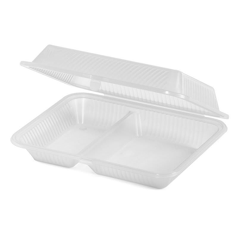 """GET EC-15-1-CL Rectangular To Go Food Container, 10"""" x 8"""" x 3"""", Polypropylene, Clear"""
