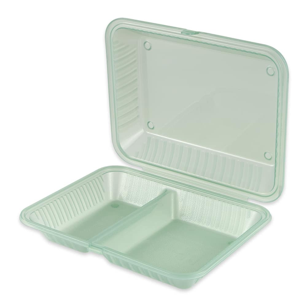 "GET EC-15-1-JA 4.75"" Square To Go Food Containers, Polypropylene, Jade"