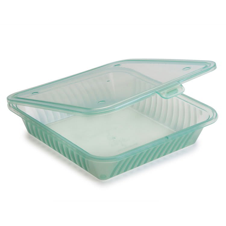 """GET EC-17-JA 4.75"""" Square To Go Food Containers, Polypropylene, Jade"""