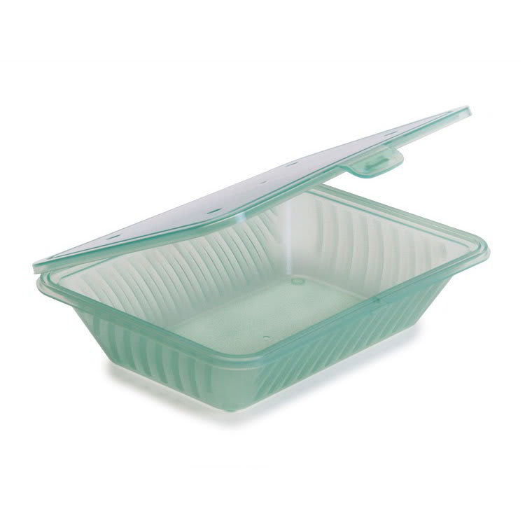 "GET EC-18-JA 4.75"" Square To Go Food Containers, Polypropylene, Jade"