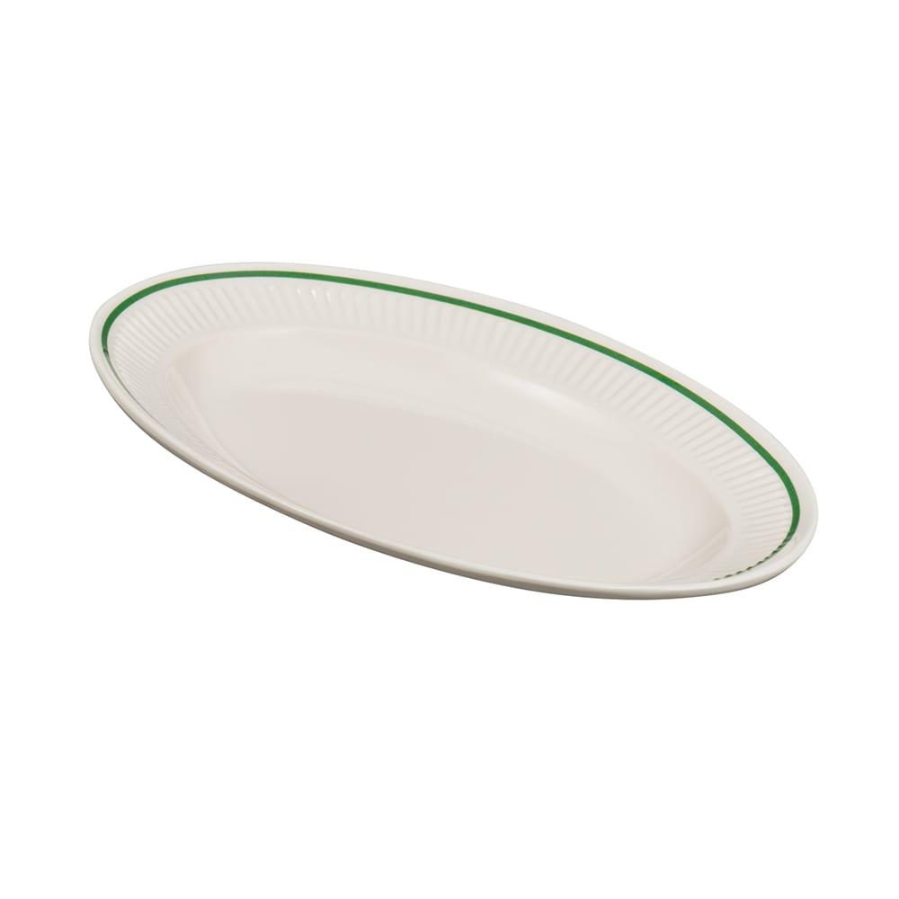 """GET EP-10-K Oval Serving Platter, 9.25"""" x 7"""", Melamine, Ivory"""