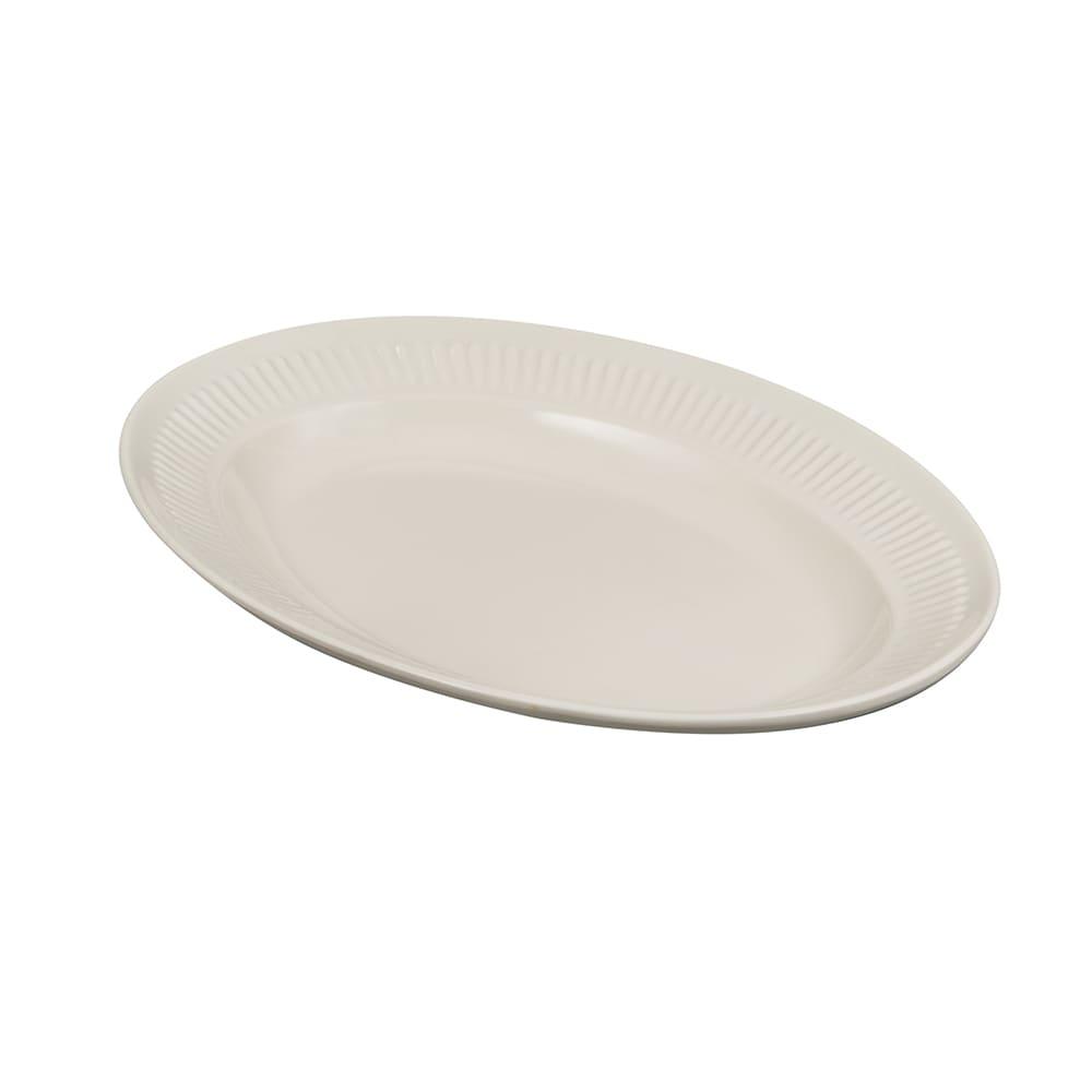 """GET EP-10-P Oval Serving Platter, 9.25"""" x 7"""", Melamine, Ivory"""