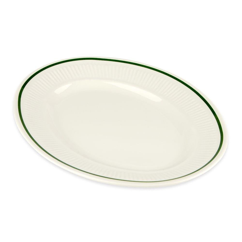 """GET EP-12-K Oval Serving Platter, 11.75"""" x 9"""", Melamine, Ivory"""