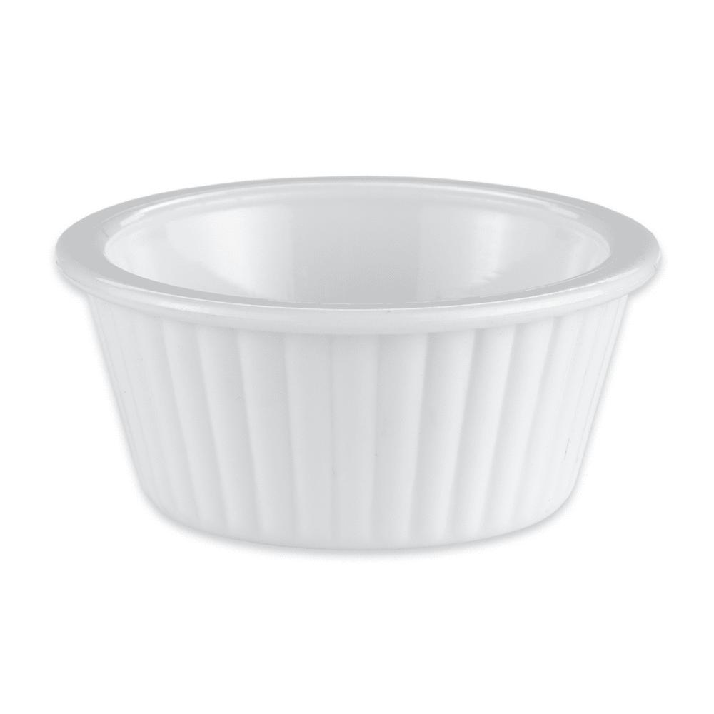 """GET ER-001-W 2.25"""" Round Ramekin w/ 1-oz Capacity, Plastic, White"""