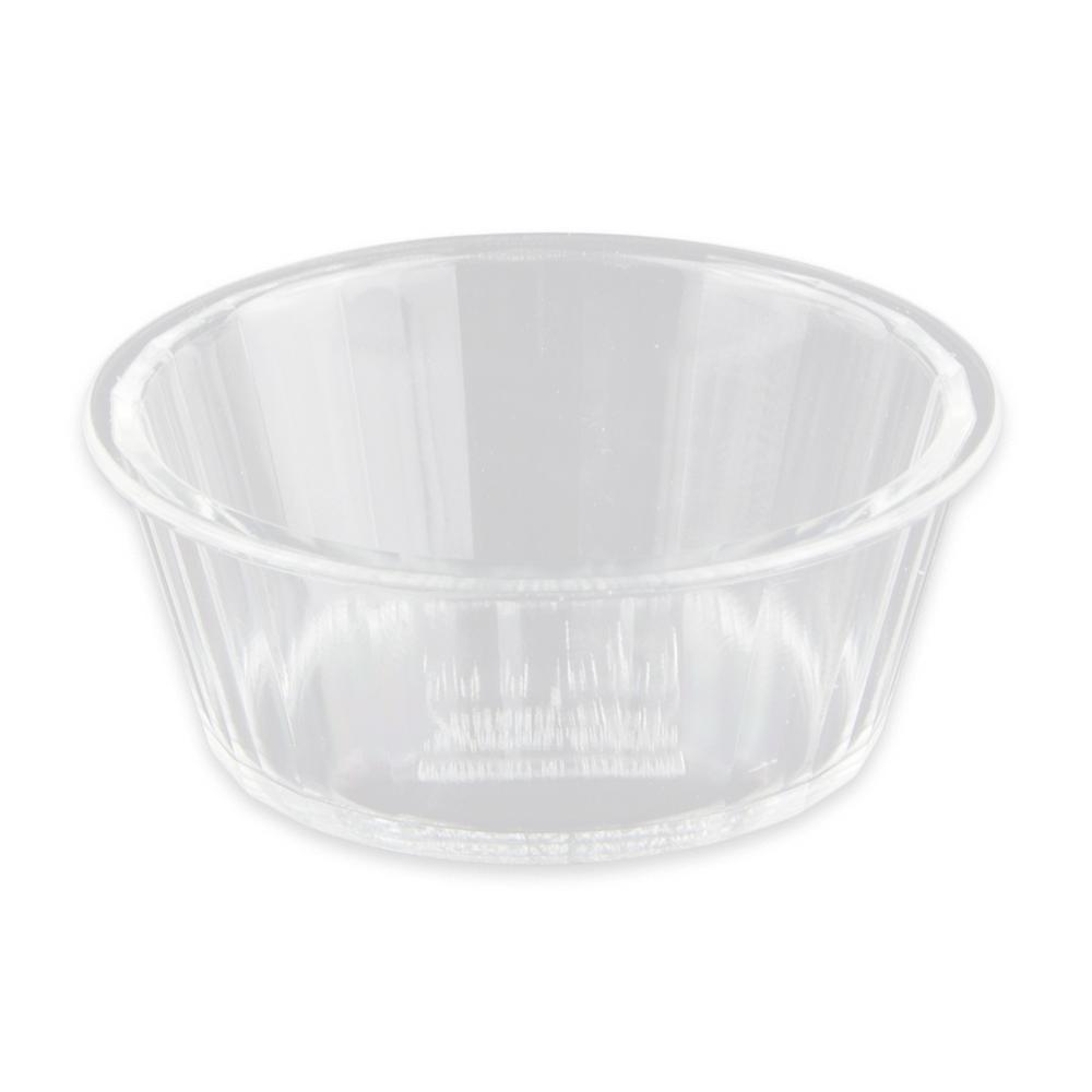 "GET ER-020-CL 2.75"" Round Ramekin w/ 2 oz Capacity, Plastic, Clear"