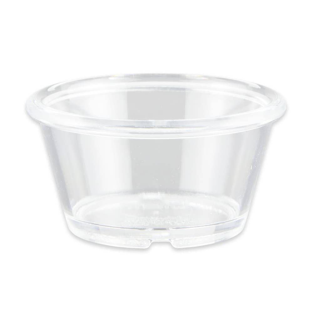 GET ER-025-CL 2.5 oz Plain Ramekin, Plastic, Clear