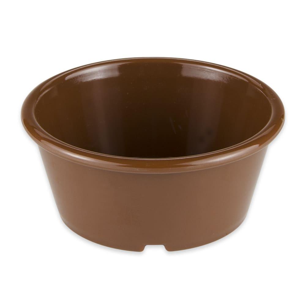 "GET ER-040-BR 4"" Round Ramekin w/ 4-oz Capacity, Plastic, Brown"