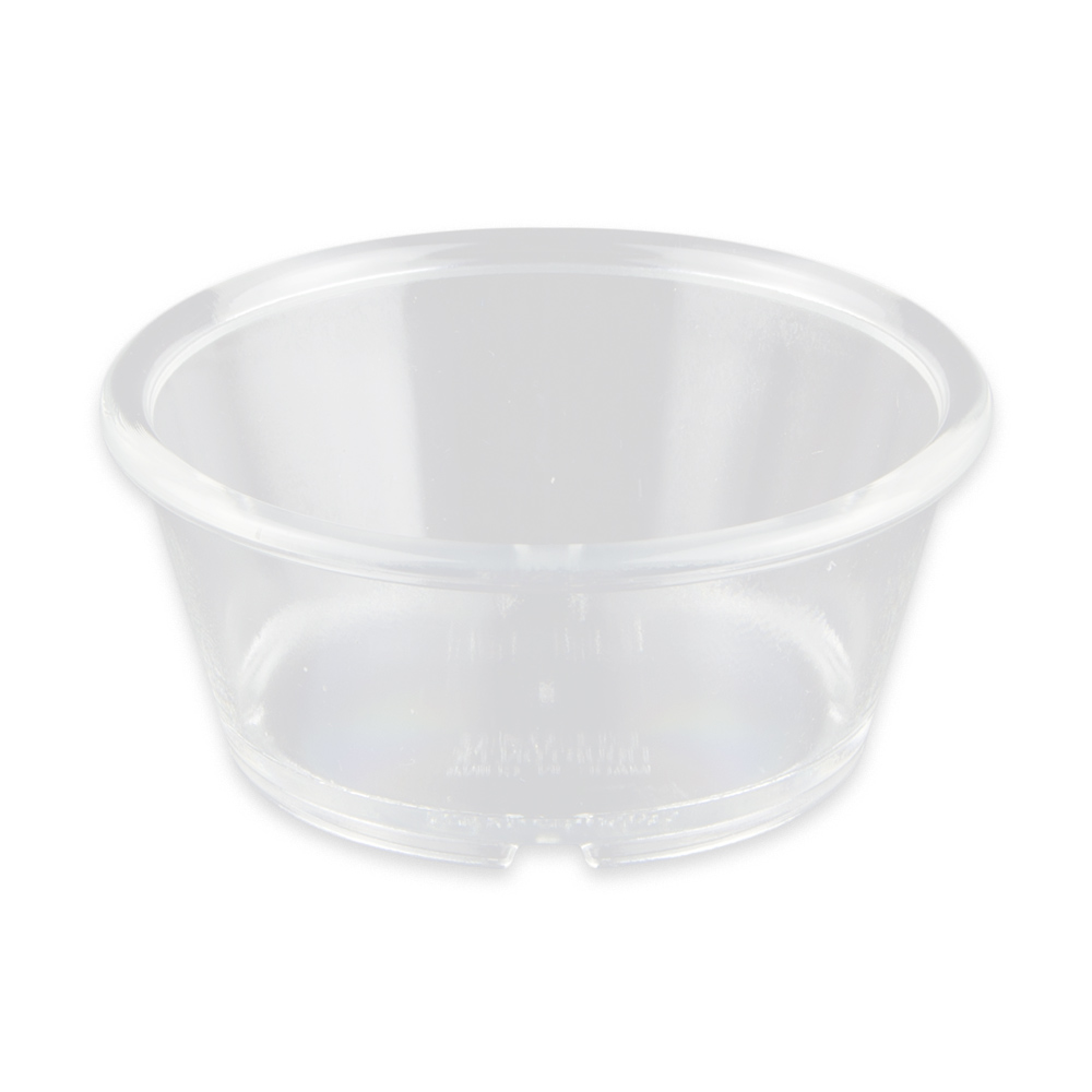 "GET ER-040-CL 4"" Round Ramekin w/ 4-oz Capacity, Plastic, Clear"