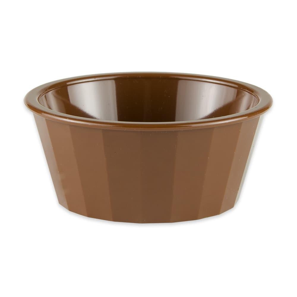 "GET ER-045-BR 4"" Round Ramekin w/ 4-oz Capacity, Plastic, Brown"