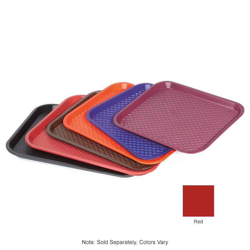 "GET FT-14-R Fast Food Tray, 14"" x 10.75"", Plastic, Red"