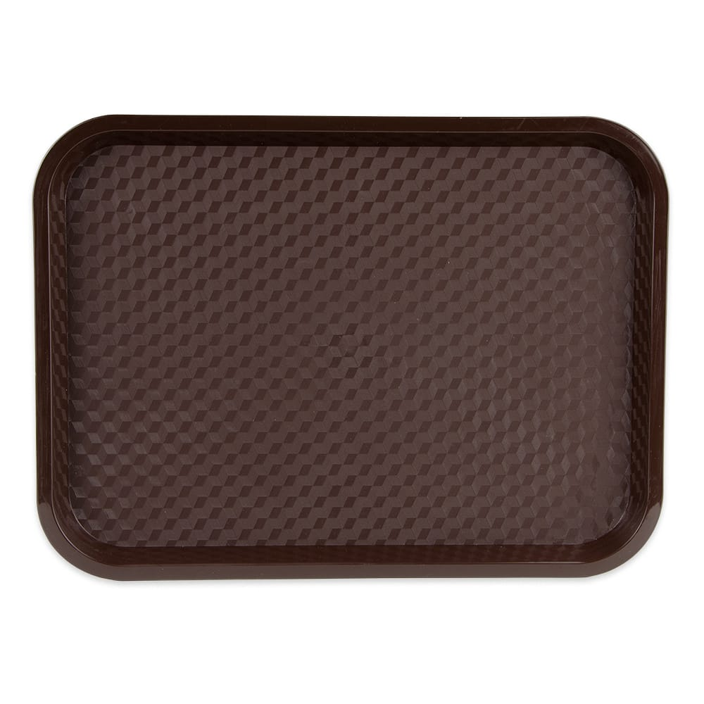 "GET FT-16-BR Fast Food Tray, 16"" x 12"", Plastic, Brown"