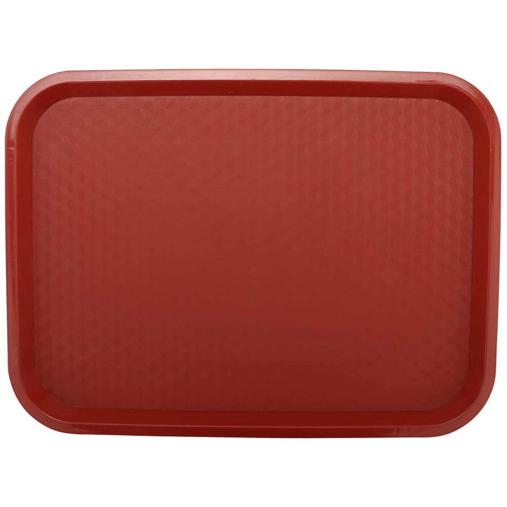 "GET FT-16-R Fast Food Tray, 16"" x 12"", Plastic, Red"