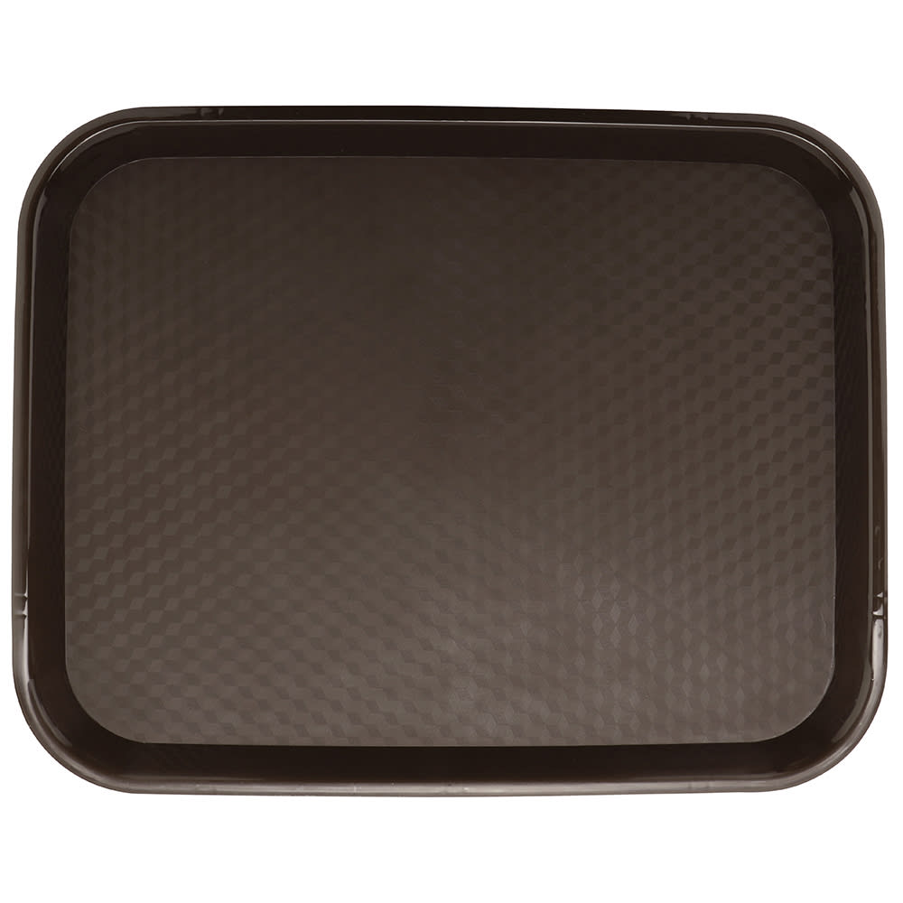 "GET FT-18-BR Fast Food Tray, 17.5"" x 14"", Plastic, Brown"