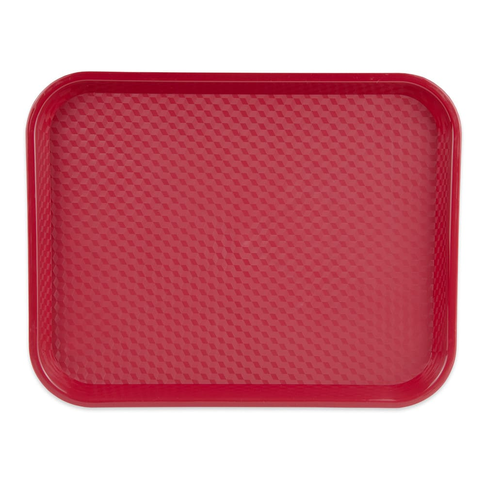 "GET FT-18-R Fast Food Tray, 17.5"" x 14"", Plastic, Red"