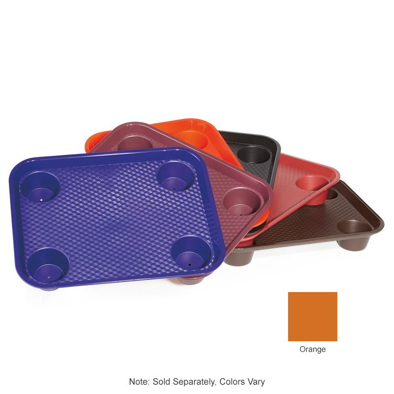 "GET FT-20-OR Fast Food Tray, 17"" x 14"", Plastic, Orange"