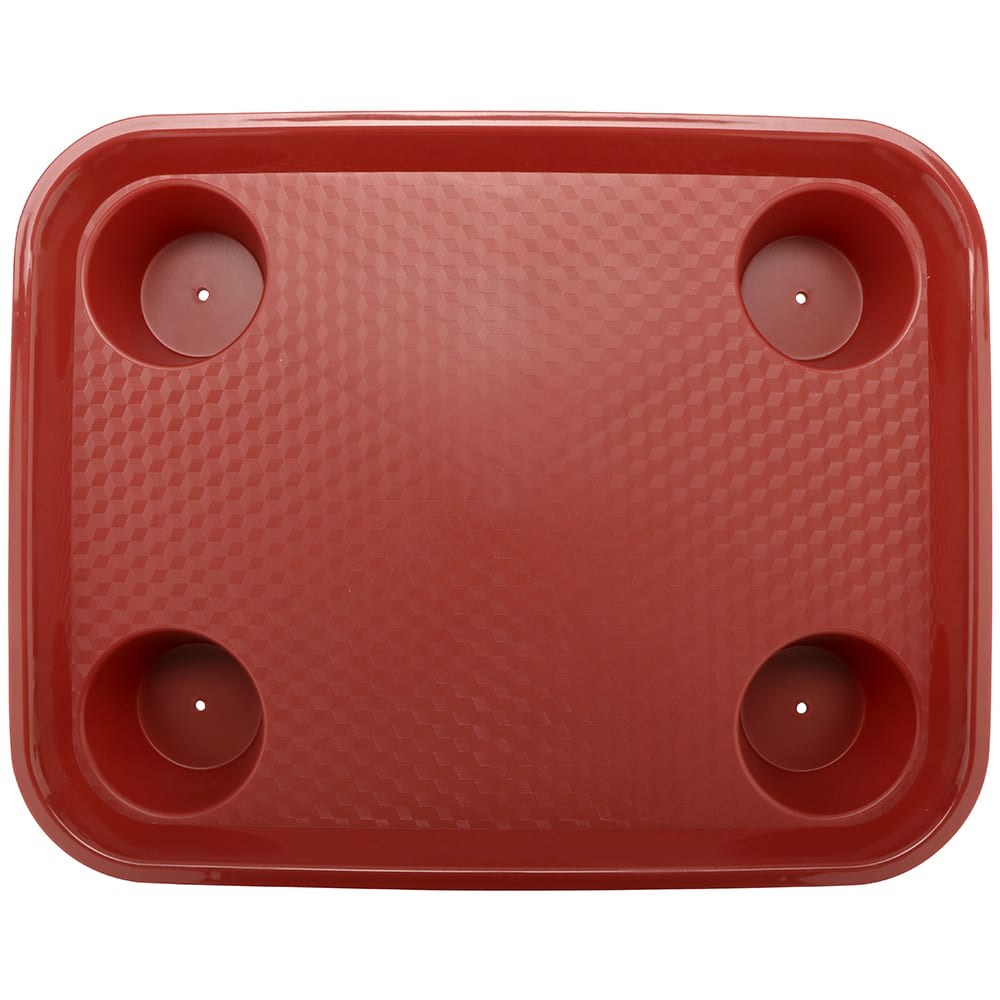"GET FT-20-R Fast Food Tray, 17"" x 14"", Plastic, Red"