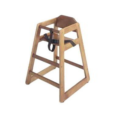 GET HC-100W-KD-1 Unassembled High Chair, Commercial Hardwood, Walnut