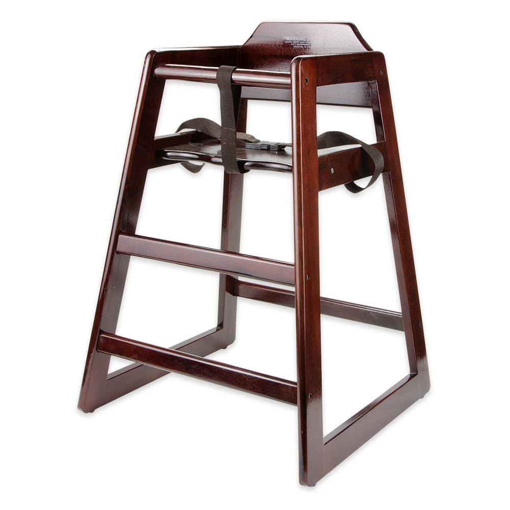 GET HC-100-M-1 Assembled High Chair, Commercial Hardwood, Mahogany