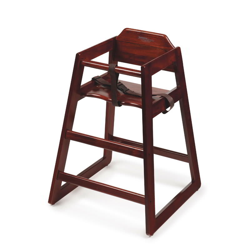 GET HC-100-M-2 Assembled High Chair, Commercial Hardwood, Mahogany