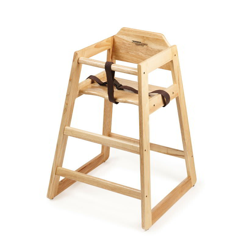 GET HC-100-N-2 Assembled High Chair, Commercial Hardwood, Natural